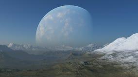 3d übertrug Raum-Kunst: Ausländischer Planet Stockfotografie