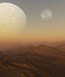 3d übertrug Raum-Kunst: Ausländischer Planet Lizenzfreie Stockbilder