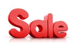 3D übertrug Verkaufs-Wort in der roten Farbe Stockfotos