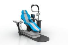 3d übertrug zahnmedizinischen Stuhl Stockfotos