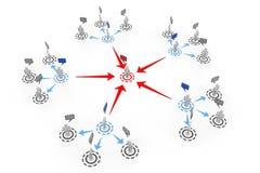 3d łącząca cześć ludzka ruchu sieć zaludnia res Obraz Stock