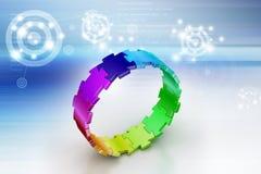 3d łamigłówki pierścionek Zdjęcia Royalty Free