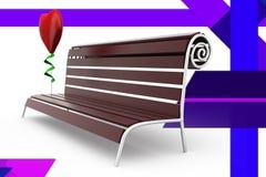 3d ławki ilustracja Zdjęcia Royalty Free