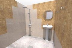 3D łazienka odpłaca się Zdjęcia Royalty Free