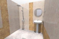 3D łazienka odpłaca się Zdjęcie Royalty Free