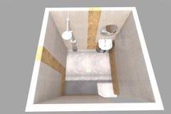 3D łazienki wnętrze odpłaca się w Armenia Zdjęcie Royalty Free