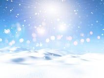3D śnieżny krajobraz Zdjęcie Stock