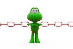 3d żaby ciągnienia łańcuchów pojęcie Zdjęcia Royalty Free