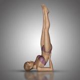 3D żeńska postać w joga pozyci Obrazy Stock