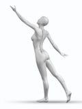 3D żeńskiej postaci dojechanie z kręgosłupem wystawiającym Obraz Stock