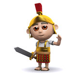 3d żołnierza Romańskie fala Obrazy Royalty Free