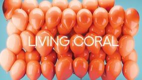 3D Żywa Koralowa ilustracja z dużo szybko się zwiększać obrazy royalty free