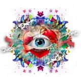 20d ανθρώπινη μακρο βλάστηση ματιών φωτογραφικών μηχανών eos Στοκ Εικόνες