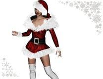 (3D) дама Санта Клаус бесплатная иллюстрация