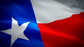 Флаг Техаса развевая Национальный развевать флага 3d Соединенных Штатов Знак анимации петли Техаса безшовной Американское разреше видеоматериал