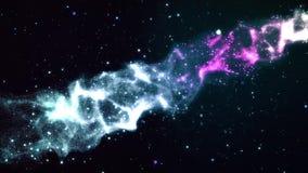 3D анимация красочного голубого межзвёздного облака с звездами, облаками космоса и газом бесплатная иллюстрация