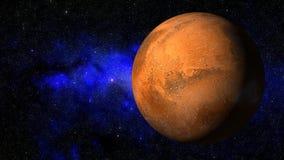3D анимация планеты Марса иллюстрация штока