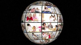 3D анимация семьи вся Дн-жизнь видеоматериал