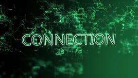 3D анимация цифровой сети Соединение текста иллюстрация штока