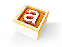 3d А. Volume letter made in 3d Royalty Free Stock Image