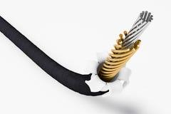 3D внутри провода Стоковое Изображение RF
