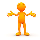 3d Гай: Shrugging человека Стоковые Фотографии RF