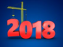 3d 2018 год с краном Стоковое Изображение RF