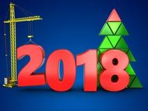 3d 2018 год с краном иллюстрация штока