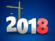 3d 2018 год с краном Стоковое фото RF
