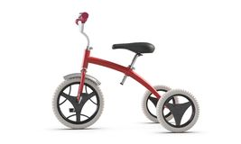 3D иллюстрируют велосипеда пинка трицикла детей изолированного на белой предпосылке иллюстрация вектора