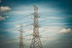 3d линия сила представляет передачу Стоковые Изображения