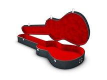 3d иллюстрация открытого случая гитары, изолированная белизна иллюстрация штока