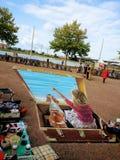 3D картина, цвета, произведение искусства улицы, люди Стоковое фото RF