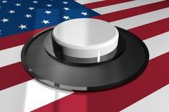 3D кнопка бело на предпосылке американского флага бесплатная иллюстрация