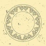 3d красивейшая габаритная диаграмма сбор винограда иллюстрации 3 рамки очень Круговая барочная картина Круглый флористический орн Стоковая Фотография