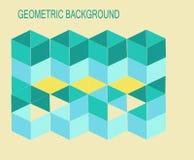 3-D кубическая твердая форменная геометрическая предпосылка стоковое фото rf