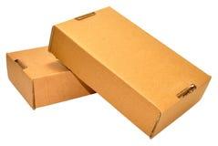 3d кладет изображение в коробку произведенное картоном Стоковые Изображения