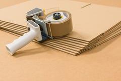 3d кладет изображение в коробку произведенное картоном стоковые изображения rf