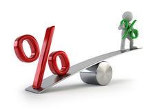 3d малые люди - тарифы низкого процента Стоковое фото RF