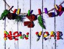 2d Новый Год графика designe компьютера рождества карточки Стоковое Фото