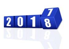 3d Новый Год 2018 Стоковые Изображения