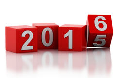 3d Новый Год 2016 Стоковое Фото