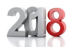 3d Новый Год 2018 Стоковая Фотография RF