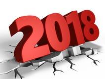 3d 2018 Новых Годов бесплатная иллюстрация