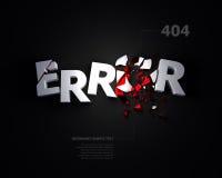 3D ошибка 404 - сообщение страницы найденное стоковая фотография