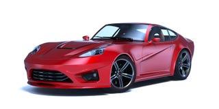3D перевод - родовой автомобиль концепции Стоковая Фотография