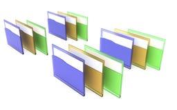 3d перевод иллюстрации 3d, концепция дела, управление делового документа, преобразование данных, иллюстрация вектора