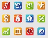 3d покрасило изображения иллюстрации валюты символы разрешения высокого multi иллюстрация вектора