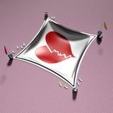 3d покрывая сердце Стоковая Фотография