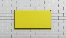 3d под знаком конструкции на кирпичной стене Стоковое Изображение